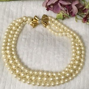 """Givenchy 18"""" Multi Strand Pearl Necklace"""